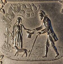 "Rare Double Dag Case "" Begger Man Little Girl & Dog"" 1856 Union Case 2.25x2 Dag"