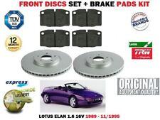 Per Lotus Elan 1.6 16V + Turbo 1989-1995 Lucas Set Dischi Freni Anteriori + Pad