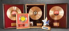 Goldene Schallplatte, 24 Karat, personalisiert mit Foto und Widmung