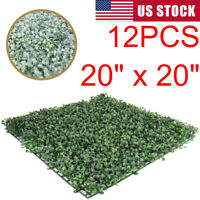"""12PCS Grass Wall Fencing Privacy Screen Artificial Hedge Greenery Boxwood 20x20"""""""
