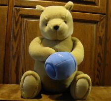 "Classic Pooh Gund  Plush #7923 POOH w/ HONEY POT. 20"" sitting, No Hang Tag"