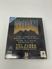 Ultimate Doom PC CD DOS Windows 95 Game Original Big Box Sealed New In Box B4