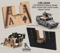 Live Resin 1:35 MARSOC Navy Seals SAG Shield Clipper Limiter Model Kit #LRE35294