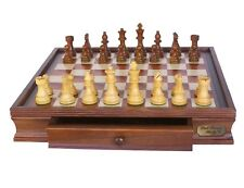 DAL Rossi Italy 50cm Wooden Chess Set With Storage Drawers for Chessmen L2209