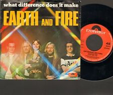 """EARTH & and FIRE What Difference Does it Make 7"""" SINGLE  Dutch NEDERPOP"""