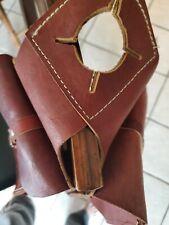 Saddle horn leather saddle bags
