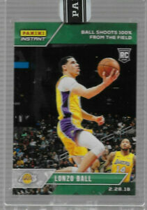 2017-18 PANINI INSTANT LONZO BALL ROOKIE SP GREEN #101 PARALLEL 8/10 SHOOTS 100%