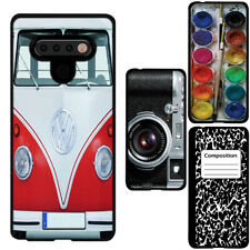 for LG Stylo 6 / 6 Plus(Black) ShockProof TPU Rugged Skin Phone Case Cover-H