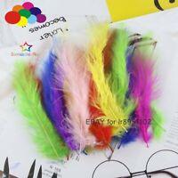 100 PCS 4-6 Inches 10-15CM Turkey Marabou Feathers Fluffy Wedding Dress DIY
