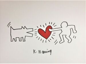 ORIGINAL HARING HAND-DRAWN AND SIGNED INK * UNTITLED *