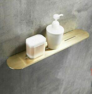 Brushed Gold Wall Storage Shower Caddy Rack 304SUS Shelf Wall Mounted Bathroom