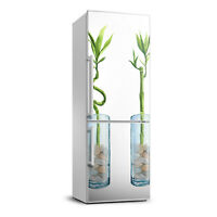 3D Wall Fridge Sticker Magnet Kitchen Refrigerator Flower Bamboo in a pot