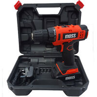 18V 1300MaH Cordless Drill Driver Set Combi Lithium Ion Screwdriver Light + Case