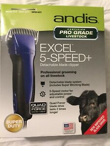 NEW! Andis Excel 5-Speed+ Livestock Clippers #63250 Cattle Goats Equine Horse