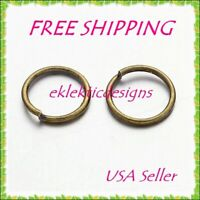 10mm 1mm/18ga 50pc Antique Bronze Iron Based Alloy Open Jump Rings FREE SHIP