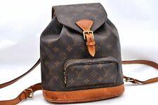 Authentic Louis Vuitton Monogram Montsouris MM Backpack M51136 LV A1176