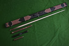 BRAND NEW HANDMADE CORDIA WOOD ASH SNOOKER/POOL CUE SET WITH CASE EXTENSION