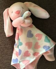 Carters Baby Pink Lovey Security Blanket Bunny Rabbit White Floppy Ears Silky