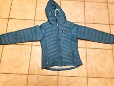 Patagonia Women's Hooded Goose Down Jacket Winter Coat XS Blue Teal