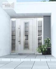 Aluminium white door with clear triple glazed - aluminium Schuco system EXD 054