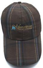 MAPLEWOOD GOLF COURSE (Renton, WA) plaid brown adjustable cap / hat