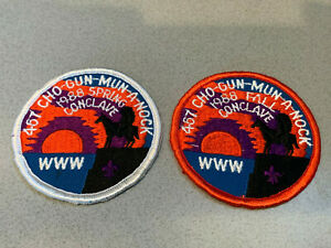OA Lodge 467 - Cho Gun Mun A Nock - 1988 Conclave Patch Set