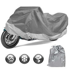 Motorcycle Cover Waterproof Outdoor Motorbike All Weather Protection (L)