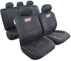 For Ford Ranger Seat Covers Waterproof Canvas Black Full Set Airbag Safe