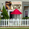 Vinyl Banner Sign Chocolate Covered Bacon #1 Marketing Advertising Brown