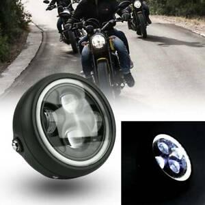 "Universal 6.5"" Inch Motorbike Motorcycle Headlight LED Front Light Headlamp UK"