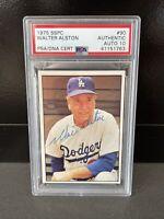 Walter Alston (Los Angeles Dodgers) 1975 SSPC PSA/DNA 10 - AUTOGRAPHED
