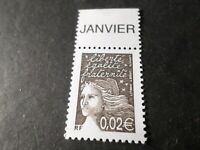 FRANCE 2002, timbre 3444, MARIANNE LUQUET avec bandelette, neuf** MNH STAMP