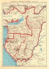COLONIAL GABON & CONGO. Afrique équatoriale française. Brazzaville plan 1938 map