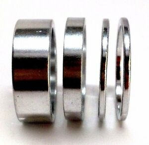 "SILVER BIKE BICYCLE ALLOY 1"" HEADSET SPACERS SET 2mm 5mm 10mm SILVER NEW"