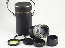 HELIOS 44 F/2 58mm CHROME ADAPTED TO SONY E MOUNT NEX 6500 7R a9 EXC MINT OPTICS