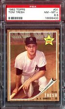 1962 Topps #31 *TOM TRESH*  PSA 8.5! pop = 8! ! 25x rarer vs PSA 8! Tough Yankee