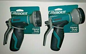 2 Gilmour 8-Pattern Heavy Duty Rear Trigger Garden Hose Spray Nozzle 841052-1001