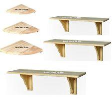 Natural Wood Corner Shelf Kit 380mm
