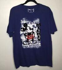 Disney Mens T Shirt Micky Mouse Blue Medium