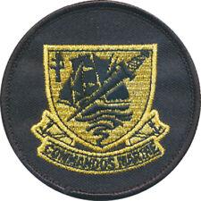 Commandos Marine, doré sur fond noir, rond, 77 millimètres, en tissu (11042)