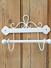 Shabby Chic Toilet Roll Holder Cream Ivory French Vintage Scroll WC Loo SECONDS
