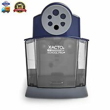 X-ACTO SchoolPro Classroom Electric Pencil Sharpener, Heavy Duty, Blue/Grey