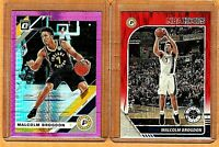 "MALCOLM BROGDON LOT ""(X2)"" OPTIC HYPER PINK,HOOPS RED PRIZM"