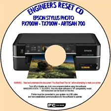 EPSON PX700W TX700W ARTISAN 700 PRINTER WASTE INK PAD SATURATED RESET FIX CD NEW