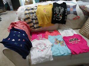 11 Long Sleeve Girl Shirts - Carter's, OshKosh, Children's Place - Size 4T