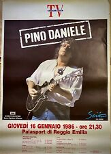 PINO DANIELE - Poster Pubblicitario Originale - Concerto Reggio Emilia - 1986 -