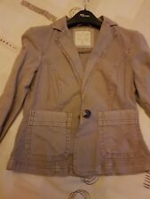 New Look NWOT Size 6/34 Beige/Light Brown Linen Jacket