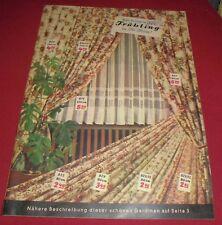 versandhaus katalog heft alt mode gardinen textil manuf. schöpflin haagen  1952