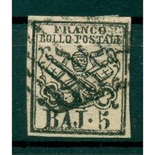Etats Pontificaux 1852/64 - Y & T. n. 6 - Armoiries 5 baj. (ix)
