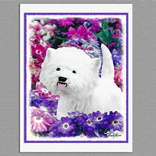 6 West Highland White Terrier Westie Dog Art Note Greeting Cards